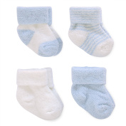 Child of Mine by Carter's Newborn Baby Boy Chenille Cuff Socks, 4 Pack