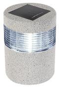 Perel 11.5 X 15.5 Cm 4.53 X 6.10-inch Diameter Stone Look Solar Light