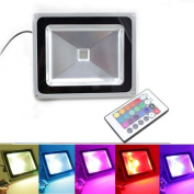 Rgb 10w Led Flood Light Ip65 Waterproof Spot Light Remote Control Garden Outdoor