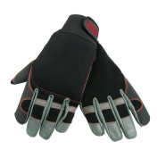 Oregon 295395 Large 4 Way Stretch Leather Chainsaw Protective Glove