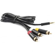 Hyperkin M07100 Tomee Xbox 360 Gold-Plated AV Cable, Black