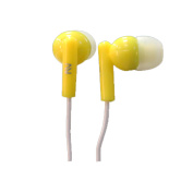 Nutek Stereo Earbuds in Yellow