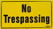 Hy Ko Products 8x14 No Trespassing Sign