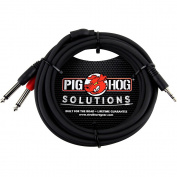 "Pig Hog Soliutions Stereo Breakout Cable 3.5mm to Dual 1/4"" (0.9m) 3m"