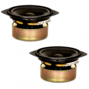 2 Goldwood Sound GW-204/4S Shielded 10cm Woofers 70 Watt each 4ohm Replacement Speakers