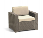 Allibert By Keter California Armchair Duo Rattan Outdoor Garden Furniture Set-