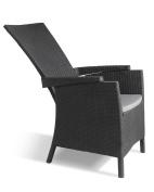 Allibert By Keter Vermont Rattan Reclining Chair Outdoor Garden Furniture -