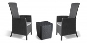 Allibert By Keter Vermont Rattan Reclining Duo Coffee Outdoor Garden Furniture -