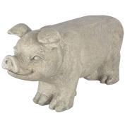 B#esschert Design Stone Garden Bench Seat Pig Grey Outdoor Decor Ornament Av13
