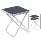 B#camp Gear Folding Camping Stool Picnic Outdoor Garden Grey Aluminium 1404346