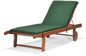 Chichester Fsc Eucalyptus Wood Outdoor Sunlounger With Weather-tex Cushion