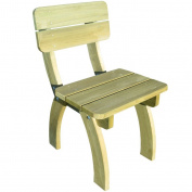 Wooden Garden Chair Outdoor Wood Chairs Rustic Natural Pinewood Picnic Backrest