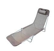 Outsunny Sun Bed Chair Garden Lounger Recliner Adjustable Back Relaxer Chair