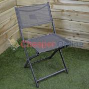 Folding Metal Framed Garden Patio Chair Summer Light Weight Portable Seat