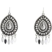 Silver-Tone Teardrop Earrings