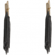 Gold-Tone and Hematite Fringe Earring Crawlers