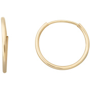 Simply Gold Kids' 10kt Yellow Gold 12mm Round Endless Hoop Earrings