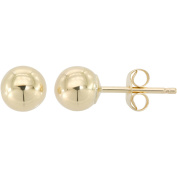 Simply Gold 10kt Yellow Gold 5mm Ball Stud Earrings