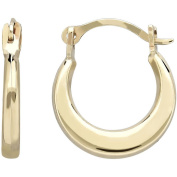 Simply Gold Kids' 10kt Yellow Gold Plain Round Hoop Earrings