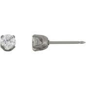 Stainless Steel 5mm CZ Single Earring Exclusive Home Ear Piercing Kit