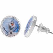 Disney Frozen Silver-Tone Olaf the Snowman Stud Earrings