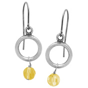 Riddles Group Sterling-silver Yellow Topaz Glass Earrings