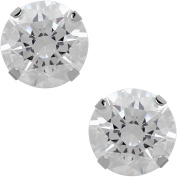 Believe By Brilliance 7.5mm CZ Round 10kt White Gold Stud Earrings
