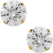 Believe By Brilliance 5mm CZ Round 10kt Yellow Gold Stud Earrings
