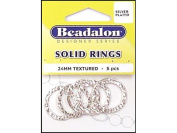 Beadalon Solid Ring 24mm Silver Plated 5pc
