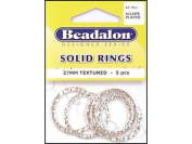 Beadalon Solid Ring 27mm Silver Plated 5pc