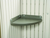 2 Corner Shelf Storage Shed Accessory Kit