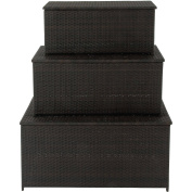 Hanover Outdoor Hanover 3-in-1 Deck Box Set for Outdoor Storage