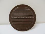 Shed 15cm Round Aluminium Wall Vent Brown, With Screen