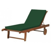 Shopisfy Outdoor Water Resistant Sunbed Cushion - Green *lounger Not Included*