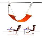 Qiorange Portable Adjustable Mini Office Foot Rest Desk Feet Hammock Orange