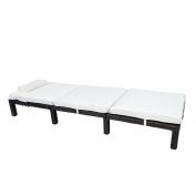 Rattan Sun Lounger Reclining Chair Recliner Weatherproof Garden Patio Furniture