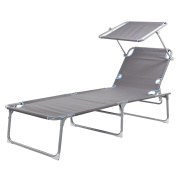 Campart Travel Camping Foldable Lounger With 5 Adjustable Positions
