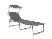 Campart Travel Be-0625 Sun Lounger – Sun Shade – Blue