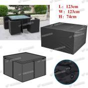 Waterproof Rectangular Table Cover Outdoor Garden Patio Furniture Storage Black
