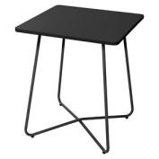 Outdoor Garden Furniture Square Metal Steel Table - 60cm Patio Decking
