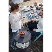 Rattan Garden Table Cool Bar Style Ice Cooler Furniture Outdoor Brown Pacific