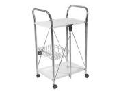 H & H Folding Trolley, Metal, White, 56 X 44 X 90 Cm