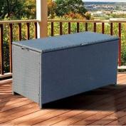 Full Steel Rattan Storage Chest Trunk Box Corner Sofa Garden Patio Furniture