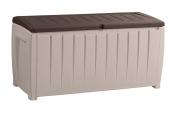 Keter Novel Plastic Storage Box, 124 X 55 X 62.5 Cm - Beige And Brown
