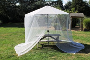 Garden Umbrella Parasol Table Screen Net Cover From Insects Wasps Flies Daddy -