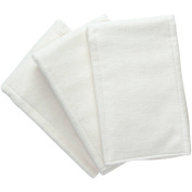 NuAngel White Cotton Pre-fold Nappy, 3 Count