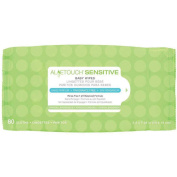 Medline Aloetouch Sensitive Fragrance Free Baby Wipes, 80 count,