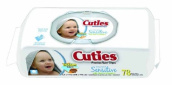 Baby Wipe Cuties Soft Pack Aloe / Vitamin E Unscented 72 Count 6 Pack