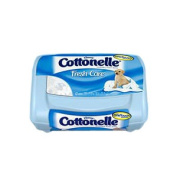 Cottonelle fresh flushable moist wipes tub, 42 count. [ Sold by the Tub, Quantity per Tub : 42 EA, Category : Wet Wipes, Product Class : Incontinence ]