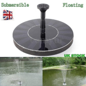 Solar Panel Powered 【submersible Floating 】 Fountain Garden Pool Pond Water Pump